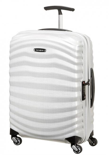 Samsonite Lite-Shock 55cm Suitcase in Off White