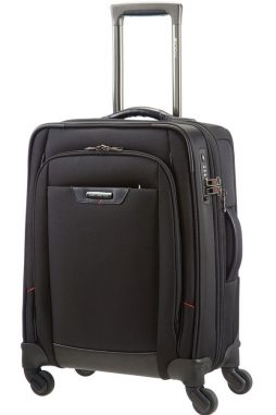 Samsonite Pro-DLX 55cm Spinner Suitcase in Black