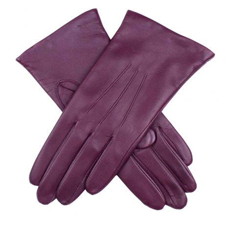 Dents Emma Ladies Leather Gloves in Thistle