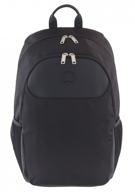 Front View of a Delsey Parvis Backpack in Black
