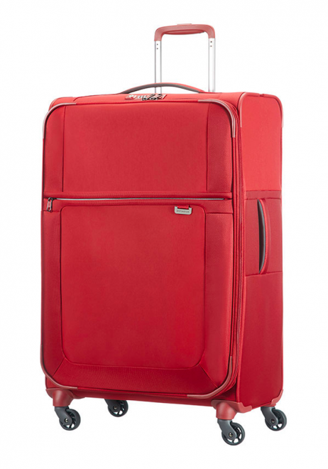 Samsonite Uplite Red 78cm Expandable Spinner suitcase