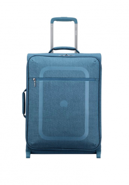 A Blue Delsey Dauphine 55cm 2-Wheel Suitcase
