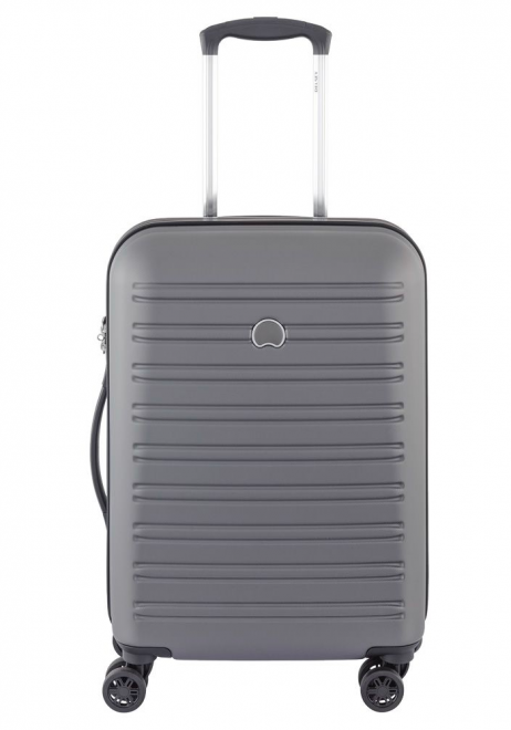 Delsey Segur 55cm Slim Spinner Suitcase in Grey