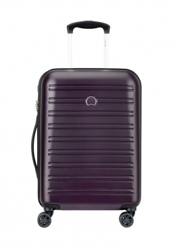 Delsey Segur 55cm Slim Spinner Suitcase in Lilac