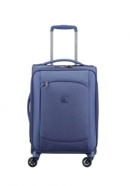 Delsey Montmartre Air, 55cm Blue spinner suitcase.