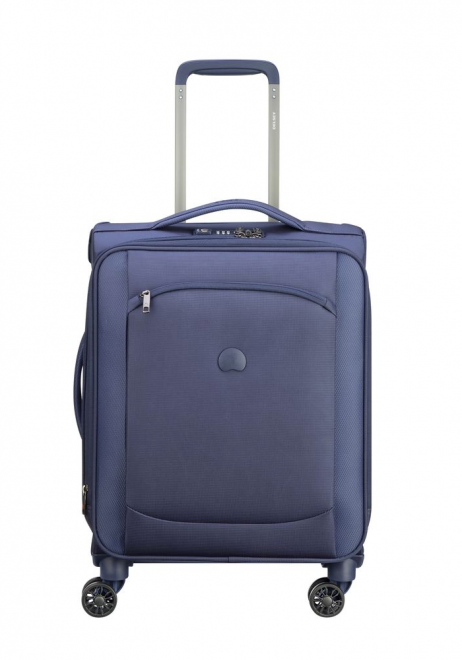 Delsey Montmartre Air Slim 55cm spinner suitcase in Blue.
