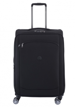 Delsey Montmartre Air 68cm spinner suitcase in black.