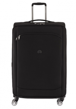 Delsey Montmartre Air 77cm spinner suitcase in black.