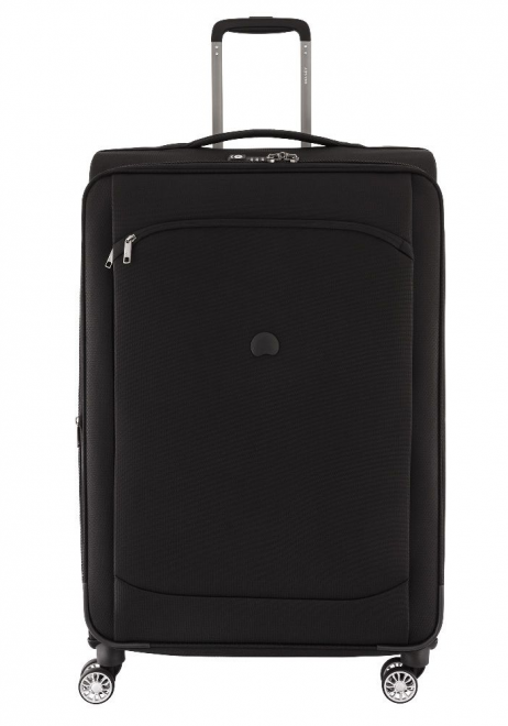 Delsey Montmartre Air 77cm spinner suitcase in black.