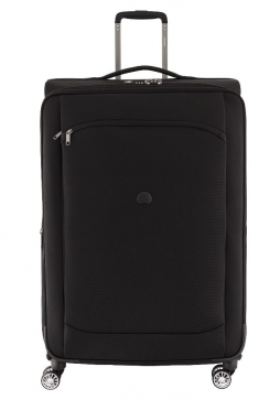 Delsey Montmartre Air 83cm spinner suitcase in black.