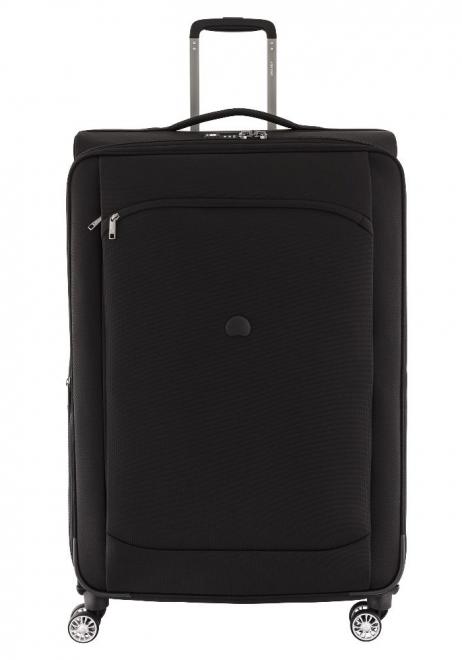Delsey Montmartre Air 83cm spinner suitcase in black.