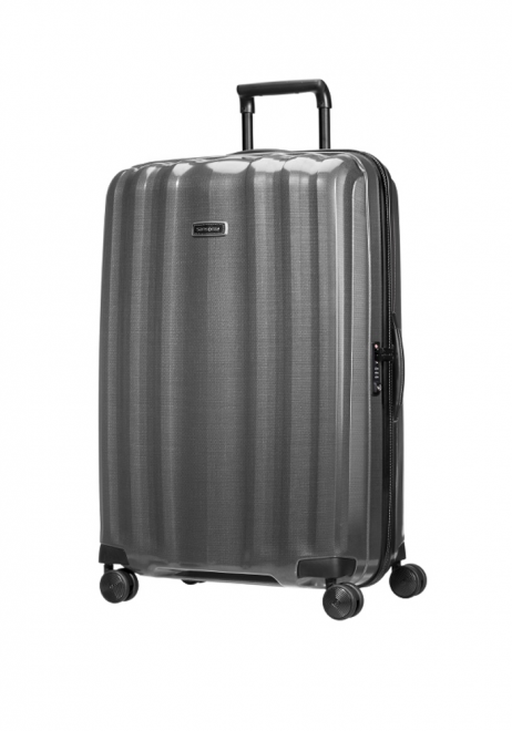 Samsonite Lite-Cube DXL 82cm spinner suitcase in eclipse grey