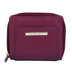 Dents Small Fuchsia Zip Fasten Purse