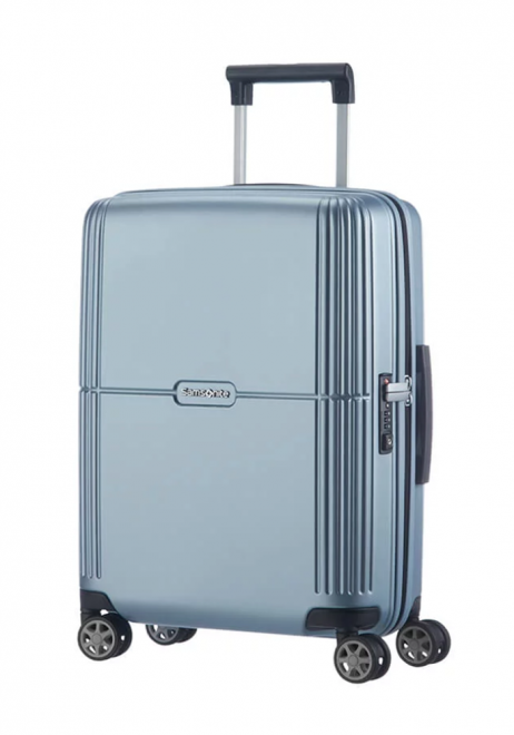 Samsonite Orfeo 55cm spinner suitcase in the colour Sky Silver