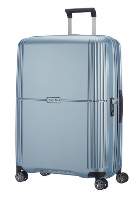 Samsonite Orfeo 75cm spinner suitcase in the colour Sky Silver