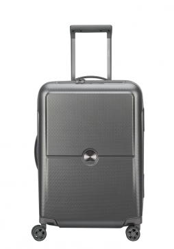Delsey Turenne 4 Double Wheels Trolly Case Slim55cm in the colour Silver