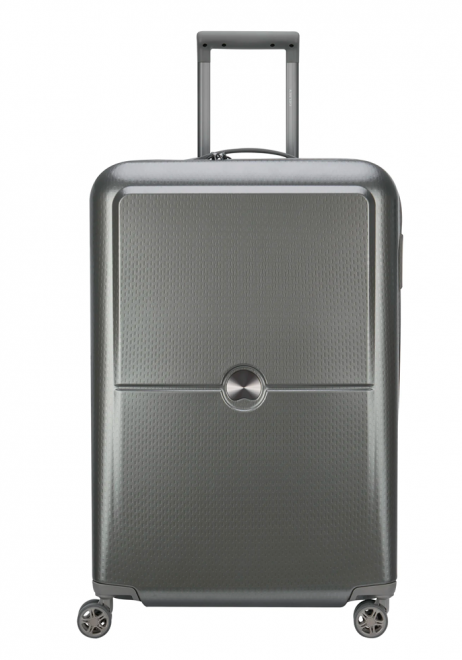 Delsey Turenne 4 Double Wheels Trolly Case 70cm in the colour silver