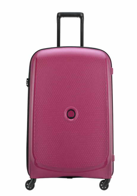 Delsey Belmont 4 Wheel Trolly Case 70cm in the colour Raspberry
