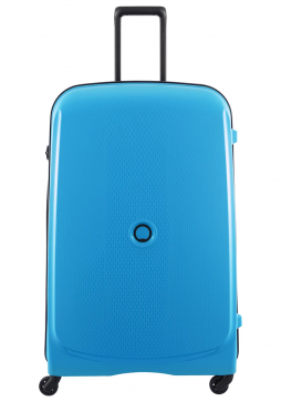 Delsey Belmont 4 Wheel Trolly Case 82cm in the colour Metallic Blue