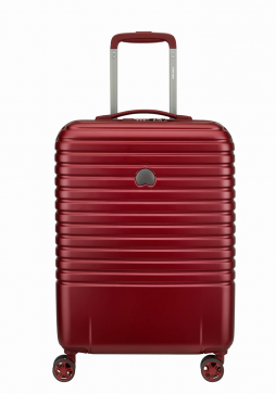 Delsey Caumartin Plus 4 Wheel Cabin Case 55cm Slim in the colour Red