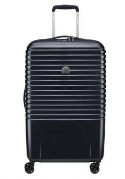 Delsey Caumartin Plus 4 Wheel Spinner Suitcase 70cm in the colour Black