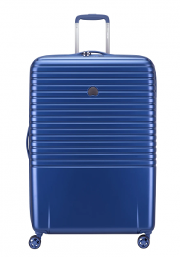 Delsey Caumartin Plus 4 Wheel Spinner Suitcase 76cm in the colour Navy