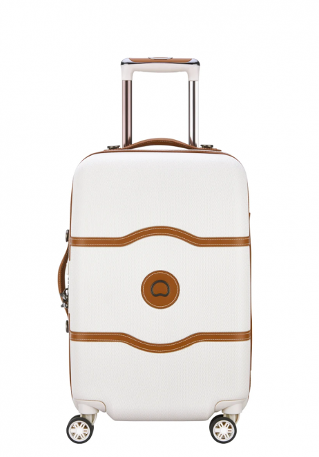 Delsey Chatelet Air 4-double wheel trolly cabin case 55cm in the cream colour Angora