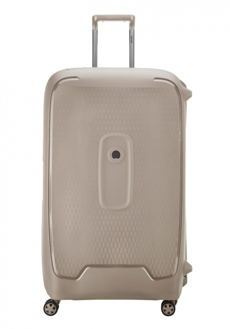 Delsey Moncey Spinner Suitcase 82cm in the colour Dark Beige