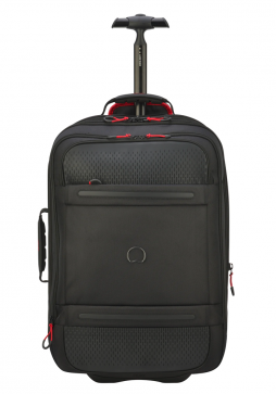 A Black 55cm Delsey Montsouris Wheeled Backpack