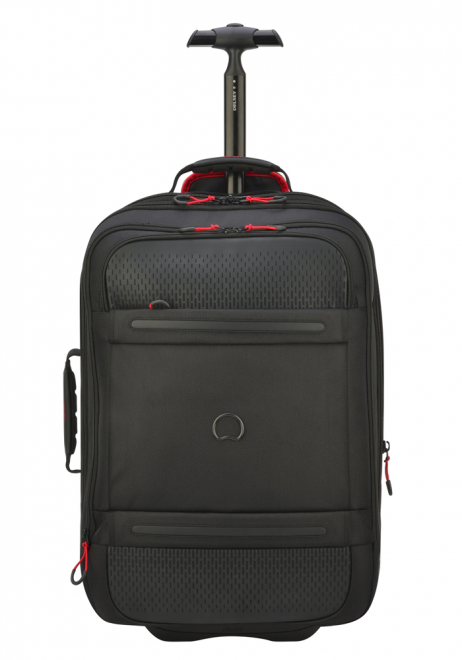 A Black 55cm Delsey Montsouris Wheeled Backpack