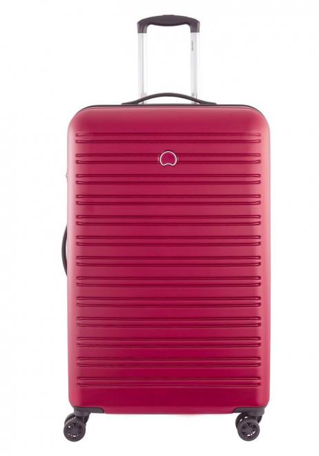 A Red 78cm Delsey Segur Suitcase
