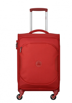 Delsey U Lite Classic 2 55cm 4Wheels Cabin Trolly Case in the colour Red