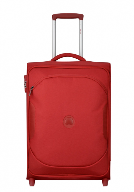 Delsey U Lite Classic 2 55cm Slim 2Wheels Cabin Trolly Case in the colour Red
