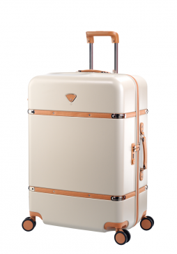 "Jump Cassis Riviera PC 4 Wheel Suitcase 30"" in the colour Beige"