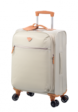 "Jump Cassis Riviera Soft 4 Wheel Expandable Carry-On Suitcase 22"" in the colour Beige"