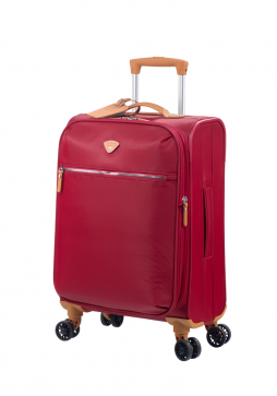 "Jump Cassis Riviera Soft 4 Wheel Expandable Carry-On Suitcase 22"" in the colour Red"