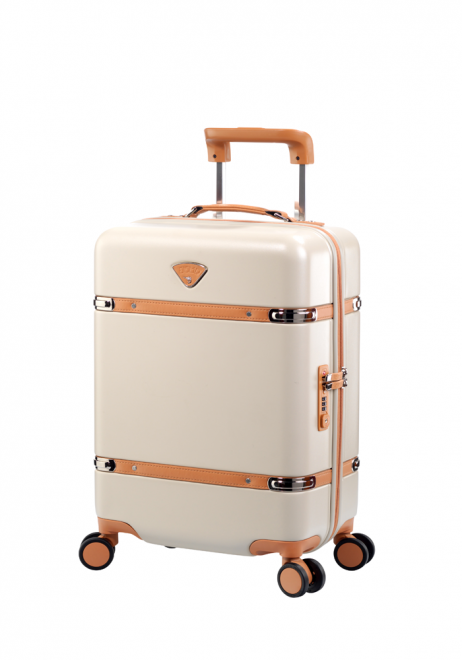 "Jump Cassis Riviera PC 4 Wheel Carry-On Suitcase 22"" in the colour Beige"