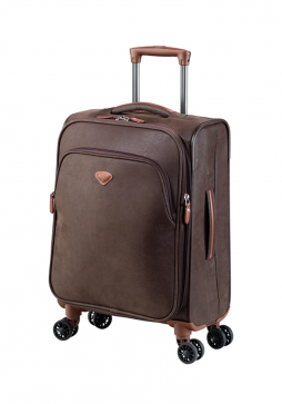 Jump Uppsala Extendable spinner suitcase 55cm in the colour Chocolate