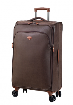 Jump Uppsala Extendable spinner suitcase 68cm in the colour Chocolate