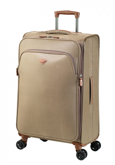ump Uppsala Extendable spinner suitcase 68cm 4451AEX in the colour Otter
