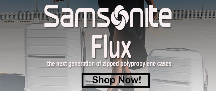 Samsonite Flux Suitcases Front Page Banner