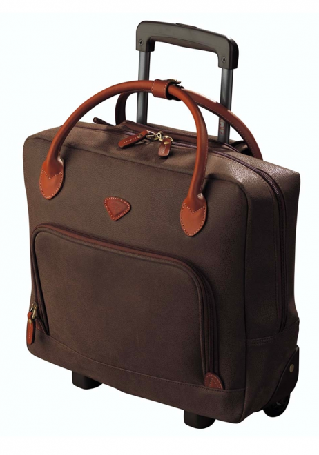 Jump Uppsala Single Compartment Wheeled Laptop Bag in Chocolate