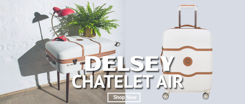 Delsey Chatelet Air Front page Shop Now Banner