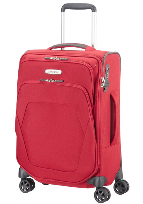 Samsonite Spark SNG 55x35x20cm Spinner Suitcase in the colour red
